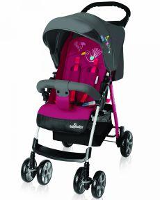 Коляска прогулочная BABY DESIGN MINI NEW цвет розовый