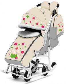 Санки - коляска РАДУГА цвет: бежевый