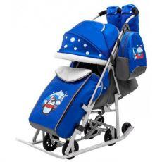 Санки - коляска РАДУГА цвет: синий