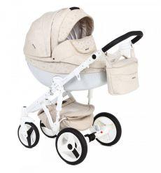 Детская коляска Adamex Monte Carbon 2 в 1 color D40 (светло-бежевая ткань)