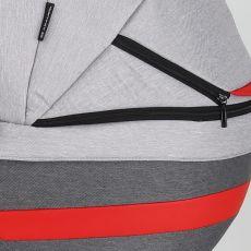 Коляска универсальная Adamex Cortina 2 в 1 ЦВЕТ 116 (т.серый+серый+красные вставки)