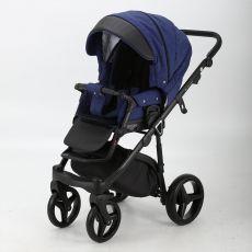Коляска универсальная Adamex Cortina 2 в 1цвет 214 (черная кожа+синий)