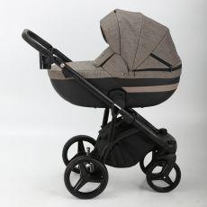 Коляска универсальная Adamex Cortina 2 в 1 цвет209 (черная кожа+т.беж.)