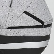 Коляска Adamex Cortina 2 в 1 цвет 208 (черная кожа+серый)