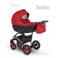 Коляска универсальная CAMARELO SEVILLA NEW 3 В 1 цвет красный 11