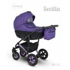 Коляска универсальная CAMARELO SEVILLA NEW 3 В 1 цвет фиолетовый 13