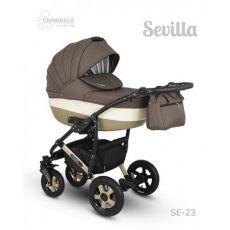Коляска универсальная CAMARELO SEVILLA NEW 3 В 1 цвет коричневый 23