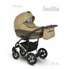 Коляска универсальная CAMARELO SEVILLA NEW 3 В 1 цвет темно-бежевый 26