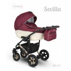 Коляска универсальная CAMARELO SEVILLA NEW 3 В 1 цвет бордовый 27