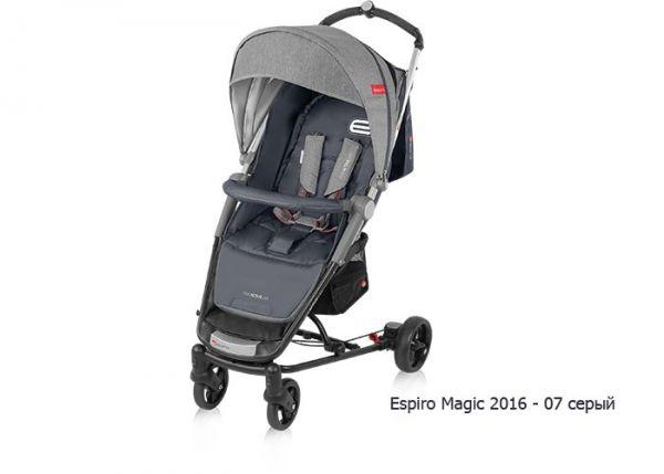 Прогулочная коляска ESPIRO MAGIC (темно-серый)